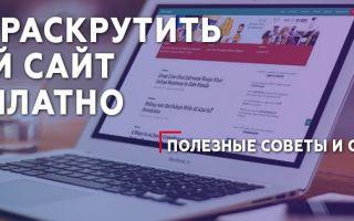 Как раскрутить сайт самому и бесплатно