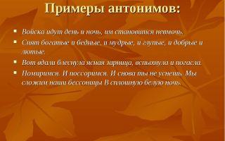 Что такое антонимы и примеры обогащения ими русского языка