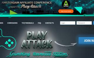 Playattack — гемблинг-партнерка с лицензионными брендами онлайн-казино
